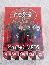 New Sealed COCA-COLA NASCAR Playing Cards 10 Coke Team Drivers Bicycle B... - $7.37