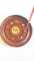 round om sign insence holder ideal for cones or  sticks these are made to order