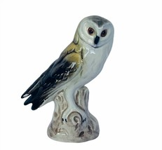 Owl figurine vtg sculpture Goebel Hummel Western Germany 38313 perch gre... - $39.55