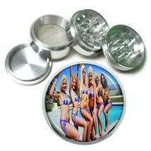 Switzerland Pin Up Girls D6 63mm Aluminum Kitchen Grinder 4 Piece Herbs & Spices - $13.81