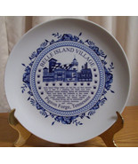 Belle Island Village Pigeon Forge Tennessee Collector Plate Blue and White - $9.89
