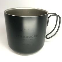 Starbucks Black Matte Metal Stainless Steel Camping 12oz Coffee Tea Mug ... - $19.80