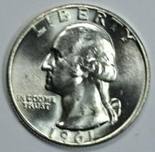 1961 P Washington uncirculated silver quarter BU - $12.50