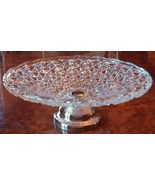 Large Daisy & Button Pattern Glass Compote Silv... - $65.00