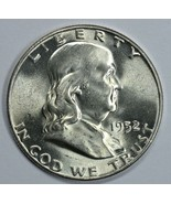 1952 P Franklin uncirculated silver half dollar BU - $32.00