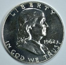 1962 Franklin silver proof half dollar - $22.00