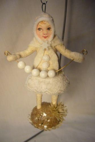 Vintage Inspired Spun Cotton, Snow Girl , no. 91