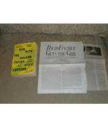 Stieg Larsson The Girl with the Dragon Tattoo Paperback w film Articles ... - $3.99