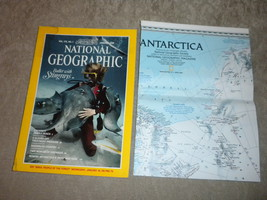 Cocaine, Sagebrush Country, Indonesia, Antartica Map National Geographic 1989 - $5.79