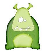 Ugly Monster-Digital Download-ClipArt-Art Clip-... - $3.00