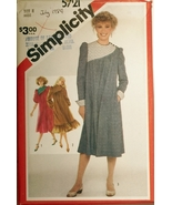 Simplicity 5721 Misses Asymmetric Dress sizes 8 sewing pattern - $5.75