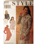 Style 2402 Misses Jackets sizes 8-18 sewing pattern - $6.75