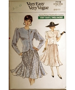 Vogue 7119 Misses Top & Skirt size 6-8-10 sewing pattern - $8.75