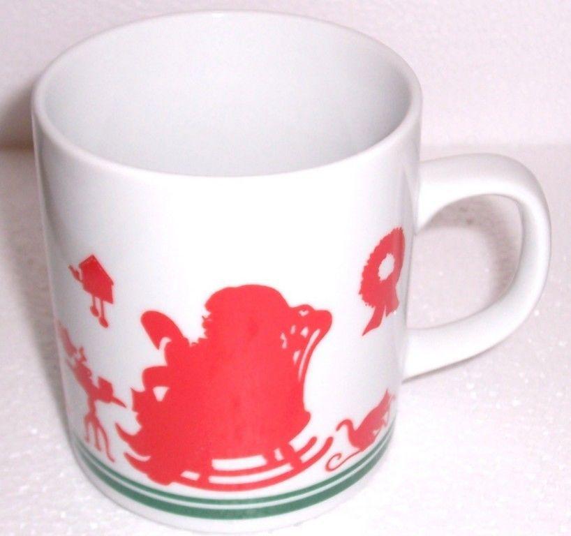1984 AVON MRS. CLAUS SANTA'S RED HELPERS CHRISTMAS XMAS COFFEE MUG