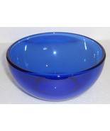 Fortecrisa Cobalt Blue Medium Size Glass Serving Bowl - $22.00