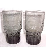 Vintage Anchor Hocking Misty Gray Color Lido Style Tumbler Glasses - $35.00