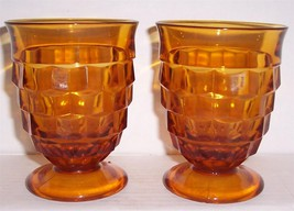 Indiana American Whitehall Amber Color Short Water Glasses - $36.00