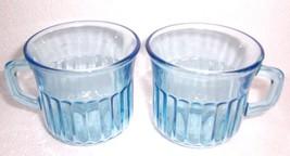 (2) Fortecrisa Light Blue Swirl/Diamond Design Glass Cups - $29.99