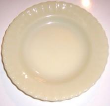 (1) RARE Colorex SM Custard Milk Glass Swirl Dinner Plate - $35.99