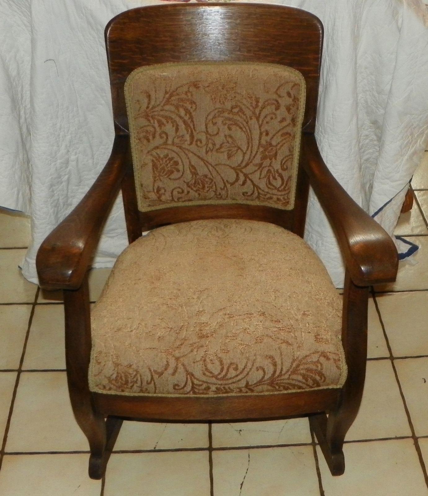... antiques » Quartersawn Oak Empire Rocker / Rocking Chair (R177