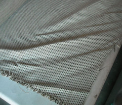 Beige Taupe Dot Print Tweed Upholstery Fabric  1 Yard - $14.95