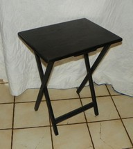 Oak Black Distressed TV Tray Table / Side Table  (T404) - $89.00