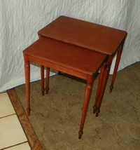 Mahogany Imperial Nesting Side Tables / End Tables  (T382) - $269.10