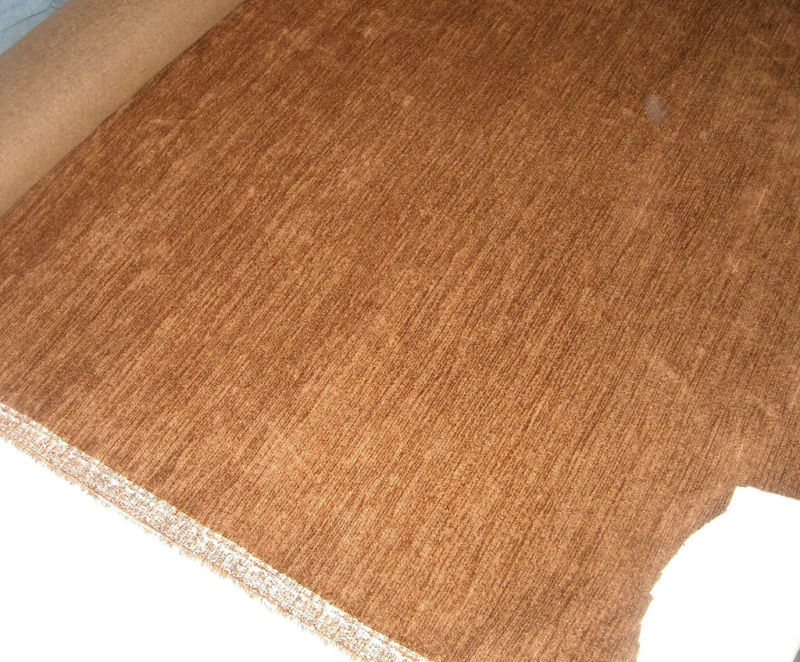 Cedar Brown Chenille Upholstery Fabric 1 Yard