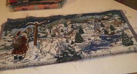 Christmas Santa Snowy Town Scene Table Runner - $24.95