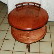 Round Cherry 2 Tier Parlor Table    (BH) - $399.00