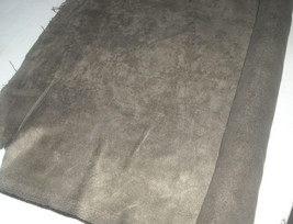 Olive Green Microfiber Velvet Upholstery Fabric 1 Yd - $14.95