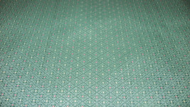 Green Mauve Beige Dot Print Nylon Upholstery Fabric 1  Yard  F703 - $12.95