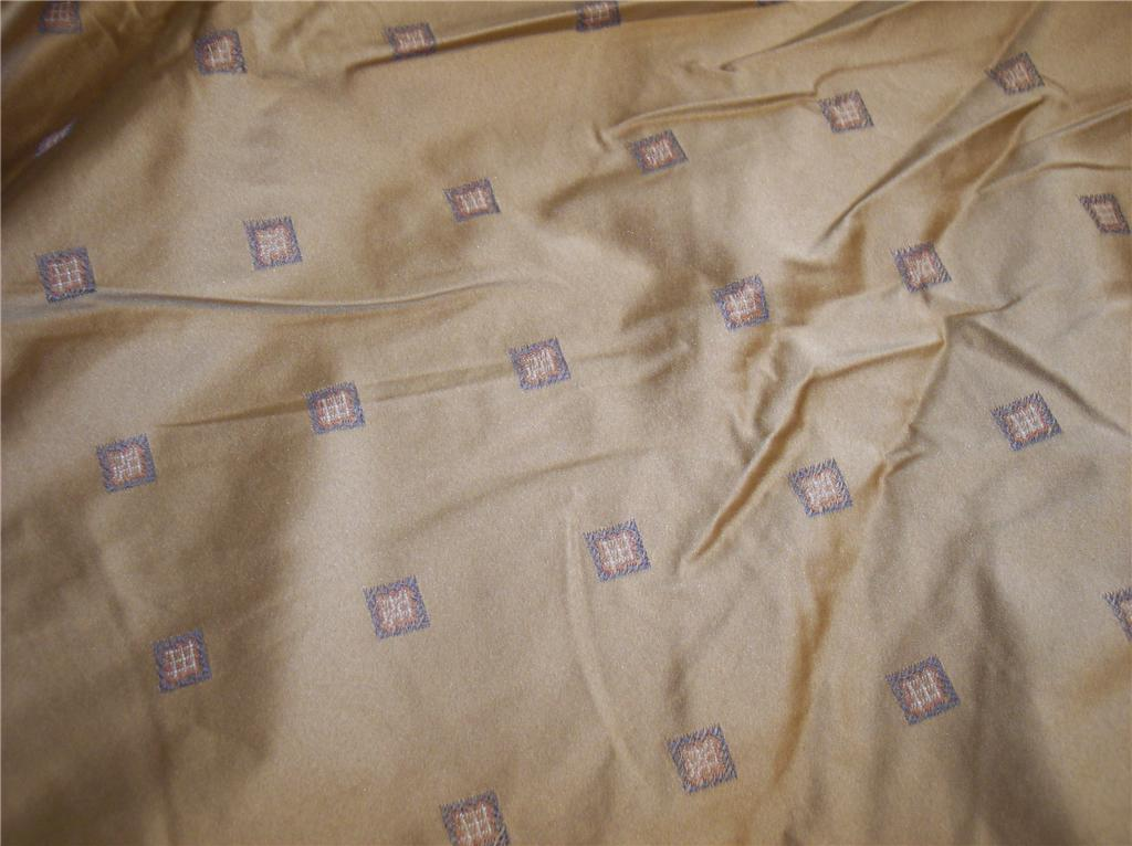 Gold Brown Diamond Print Fabric/Upholstery Fabric  Remnant   F1173