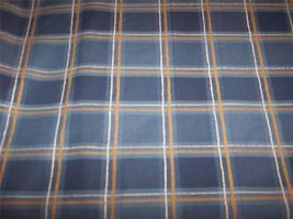 Blue Gold Plaid Fabric/Upholstery Fabric  #90 - $19.95