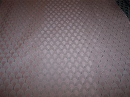 Pale Pink Shell Print Damask Fabric Upholstery Fabric 1 Yard - $14.95