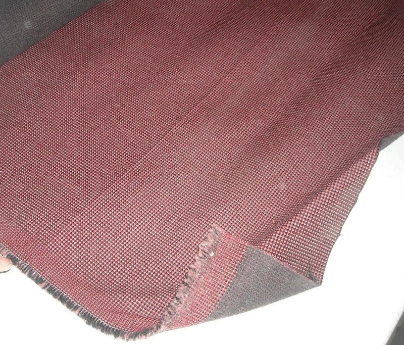 Burgundy Print Tweed Upholstery Fabric  1 Yard - $14.95