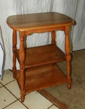 Light Cherry 3 Tier End Table / Side Table  (T395) - $299.00