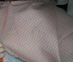 Light Mauve Flame Stitch Damask Upholstery Fabric 1 Yard - $14.95