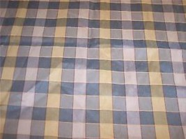 Green Yellow Plaid Fabric/Upholstery Fabric Remnant   F1175 - $29.95