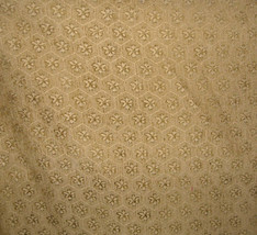Gold Flower Print Upholstery Fabric 1 Yd - $19.95