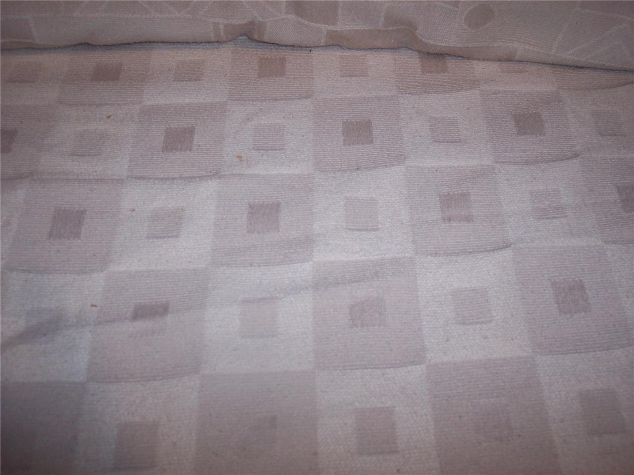 Cream Retro Square Print Jacquard Fabric/Upholstery Fabric Remnant