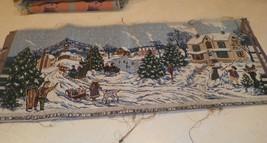 Christmas Snowy Town Scene Table Runner - $24.95