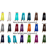 Women's Rayon Viscose Spandex Solid Color Palazzo Wide Legged Pants Many... - $25.99