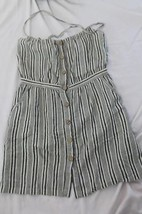JOIE SIZE SMALL STRIPED RAYON MADE IN THE USA ROMPER SHORT SLEEVELESS DR... - $25.00