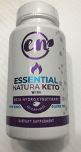 Essential Natura Keto With BHB 60 Count Bottle New Sealed Ketosis Diet  ... - $7.91