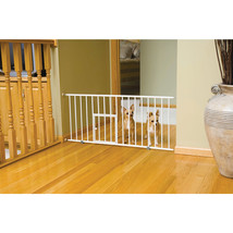 Carlson Pet White Mini Pet Gate With Door 29-32x18 Inch 891618000687 - $55.31