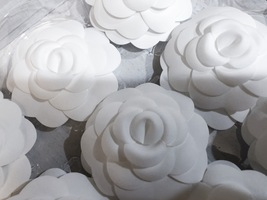 100% AUTHENTIC BRAND NEW CHANEL 2018/2019 White Camellia Flower Box Of 20  image 3