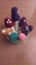 Needle Felted Mushroom- mini mushroom- toadstool-wool- Waldorf - handmad... - $3.95+