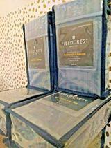 Fieldcrest 500 thread count Stripe Satin  King Pillowcases Rig Blue -NEW! -Sizes image 3