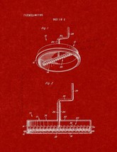 Pizza Sauce Spreader Patent Print - Burgundy Red - $7.95+